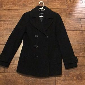 Lands end size 4 black pea coat